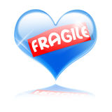 Fragile heart Royalty Free Stock Images