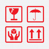 Fragile icon symbol Illustration design Royalty Free Stock Images