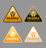 Fragile icons Stock Photography