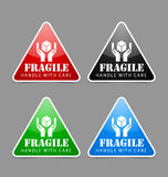 Fragile icons Stock Photos