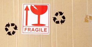 Fragile stock image