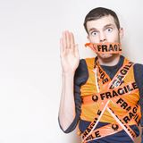 Fragile Male Employee Getting Posted Interstate Stock Photos