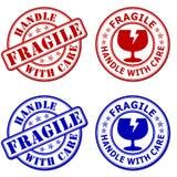 Fragile - maniglia con attenzione illustrazione vettoriale
