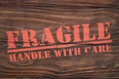 Fragile manipulez avec soin Photo libre de droits