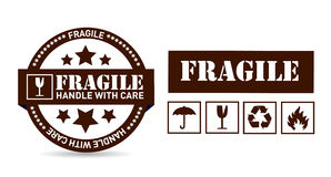 Fragile package illustration design Stock Photos