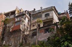 Fragile residential constructions of favela Vidigal in Rio de Janeiro Stock Photography