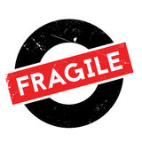 Fragile rubber stamp Stock Photos