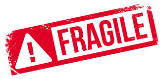 Fragile rubber stamp Stock Photo