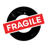 Fragile rubber stamp Royalty Free Stock Photos