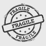 Fragile rubber stamp isolated on white background. Stock Photography