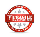 Fragile seal illustration design Royalty Free Stock Images