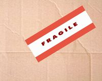 Fragile sign Stock Photos