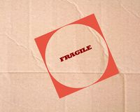 Fragile sign Royalty Free Stock Photo