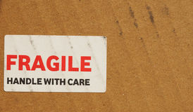Fragile sign Royalty Free Stock Image