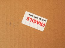 Fragile sign Royalty Free Stock Photos