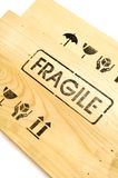 Fragile sign on white Royalty Free Stock Image