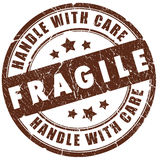 Fragile stamp. Fragile grunge stamp isolated over white stock illustration
