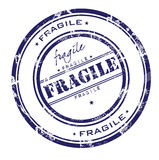 Fragile stamp. Abstract rubber grunge office stamp with the word fragile vector illustration