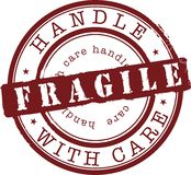 Fragile stamp Royalty Free Stock Photography