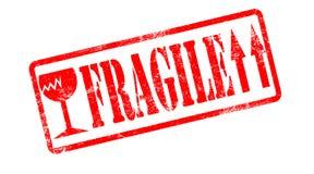Fragile stamp. Stock Photos