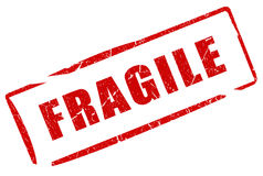 Fragile stamp Royalty Free Stock Images