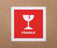 Fragile sticker Stock Photo