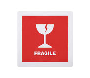 Fragile sticker with clipping path Stock Photo