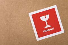 Fragile sticker with copy space stock photography