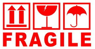 Free Fragile Sticker For Packaging Royalty Free Stock Photos - 120954368