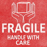 Fragile sticker rubber stamp with handle with care and  Sign Royalty Free Stock Photos