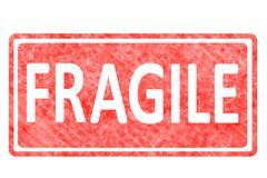 Fragile sticker rubber stamp Royalty Free Stock Images