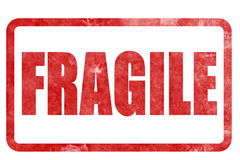 Fragile sticker rubber stamp Royalty Free Stock Photo