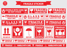 Fragile Sticker sign Royalty Free Stock Photo