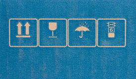 Fragile Symbol On Cardboard. Fine Image Close-Up Of Fragile Symbol On Cardboard royalty free stock image