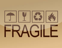 Fragile symbols Royalty Free Stock Photo