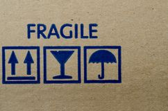 Fragile symbols Royalty Free Stock Photos