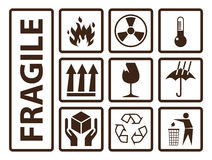 Fragile symbols Royalty Free Stock Image