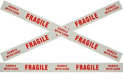 Fragile tape. Photo of fragile tape used for securing delicate items for despatch Stock Photos