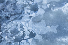Fragile thin ice Royalty Free Stock Photo