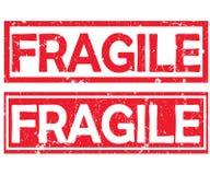 Fragile - two labels / stamps designed for the transportation industry vector illustration