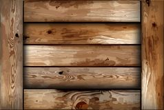 Fragile wooden box. Vector Stock Photography