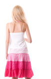 Fragile young woman back. Rear View on fragile young woman back Stock Photography
