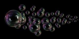 Fragilidad de la ligereza de la burbuja de jab?n ilustración del vector