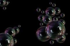 Fragilidad de la ligereza de la burbuja de jab?n stock de ilustración