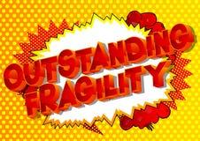 Fragilidad excepcional - palabras del estilo del cómic ilustración del vector