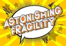Fragilité étonnante - mots de style de bande dessinée illustration de vecteur