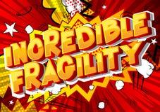 Fragilité incroyable - mots de style de bande dessinée illustration libre de droits