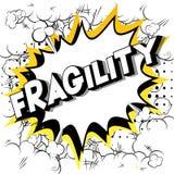 Fragilité - mots de style de bande dessinée illustration libre de droits