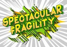 Fragilité spectaculaire - mots de style de bande dessinée illustration libre de droits
