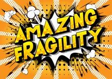 Fragilité stupéfiante - mots de style de bande dessinée illustration de vecteur